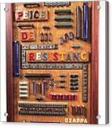 Peice De Resistanc Acrylic Print by Bill Czappa