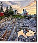 Pemaquid Lighthouse Reflection Acrylic Print by Benjamin Williamson