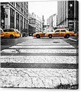 Penn Station Yellow Taxi Acrylic Print by John Farnan