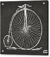 Penny-farthing 1867 High Wheeler Bicycle Patent - Gray Acrylic Print by Nikki Marie Smith