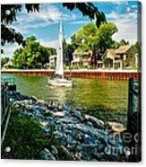 Pentwater Channel Michigan Acrylic Print by Nick Zelinsky