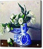 Peony Blossoms Acrylic Print by Rick Hansen