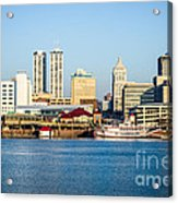 Peoria Skyline And Downtown City Buildings Acrylic Print by Paul Velgos