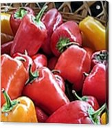 Peppers Acrylic Print by Janice Drew