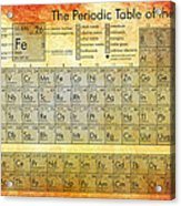 Periodic Table Of The Elements Acrylic Print by Georgia Fowler