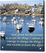 Perkins Cove Serenity Acrylic Print by Patricia Urato