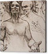 Persecution Sketch Acrylic Print by Jani Freimann