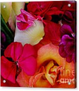 Petal River Acrylic Print by Jeanette French