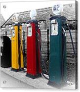 Petrol Station Acrylic Print by Roberto Alamino