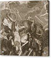 Phaeton Struck Down By Jupiters Acrylic Print by Bernard Picart