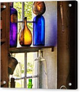 Pharmacy - Colorful Glassware  Acrylic Print by Mike Savad