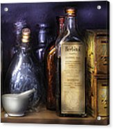 Pharmacy - Constipated  Acrylic Print by Mike Savad
