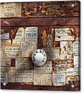Pharmacy - Signs Of The Time  Acrylic Print by Mike Savad