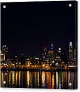 Philadelphia - Bright Lights Big City Acrylic Print by Bill Cannon