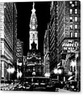 Philadelphia City Hall 1916 Acrylic Print by Benjamin Yeager