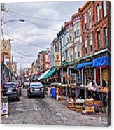 Philadelphia Italian Market 2 Acrylic Print by Jack Paolini