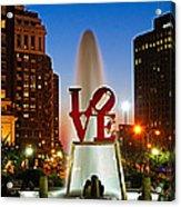 Philadelphia Love Park Acrylic Print by Nick Zelinsky