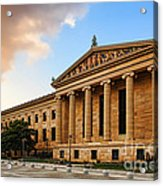Philadelphia Museum Of Art Acrylic Print by Olivier Le Queinec