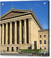 Philadelphia Museum Of Art Rear Facade Acrylic Print by Olivier Le Queinec