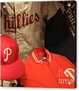 Philadelphia Phillies Acrylic Print by David Rucker