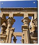 Philae Temple Egypt Acrylic Print by Brenda Kean
