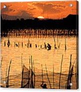 Philippines Manila Fishing Acrylic Print by Anonymous