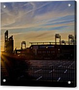 Phillies Citizens Bank Park At Dawn Acrylic Print by Bill Cannon