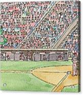 Phillies Game Acrylic Print by Cee Heard