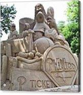 Phillies Sandsculpture Acrylic Print by Barbara McDevitt