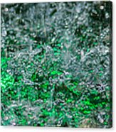 Phone Case - Liquid Flame - Green 2 - Featured 2 Acrylic Print by Alexander Senin