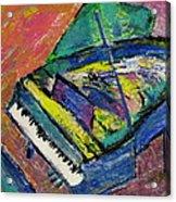 Piano Blue Acrylic Print by Anita Burgermeister