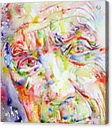 Picasso Pablo Watercolor Portrait.2 Acrylic Print by Fabrizio Cassetta