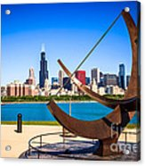 Picture Of Chicago Adler Planetarium Sundial Acrylic Print by Paul Velgos