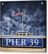 Pier 39 Acrylic Print by Dave Bowman