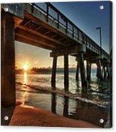 Pier Sunrise Acrylic Print by Michael Thomas