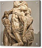 Pieta By Michelangelo Acrylic Print by Melany Sarafis