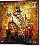 Pieta Via Dolorosa 13 Acrylic Print by Lianne Schneider