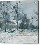 Piettes House At Montfoucault Acrylic Print by Camille Pissarro