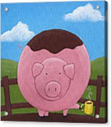 Pig Nursery Art Acrylic Print by Christy Beckwith