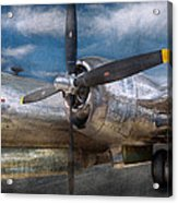 Pilot - Plane - The B-29 Superfortress Acrylic Print by Mike Savad