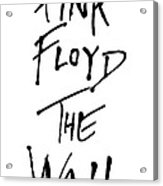Pink Floyd No.01 Acrylic Print by Caio Caldas