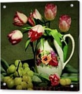 Pink In A Pitcher Acrylic Print by Diana Angstadt