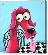 Pink Milk Acrylic Print by Lucia Stewart