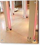Pink Pillars I Acrylic Print by Anna Villarreal Garbis
