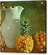 Pitcher With Pineapples Acrylic Print by Diana Angstadt
