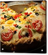 Pizza Pie - 5d20700 Acrylic Print by Wingsdomain Art and Photography