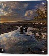 Place Of Refuge Sunset Reflection Acrylic Print by Mike Reid