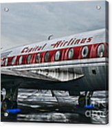 Plane Obsolete Capital Airlines Acrylic Print by Paul Ward
