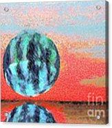 Planet In Space  Acrylic Print by Odon Czintos