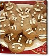 Plateful Of Gingerbread Cookies Acrylic Print by Juli Scalzi